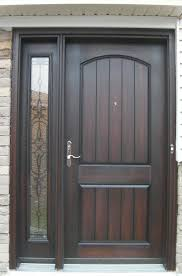 Metal Front Doors For Homes With Glass by Cambered Two Panel Plank Rustic Fiberglass Door With Wrought Iron