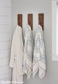 bathroom towel hooks ideas lake house master bath makeover gray cabinets planked walls and