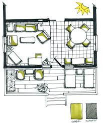 floor plan rendering drawing hand
