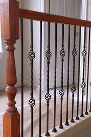 Installing Balusters And Handrails How To Install Wrought Iron Stair Spindles Ebay
