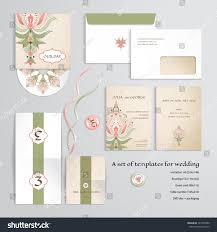 a6 invitation envelopes vector templates design wedding oriental floral stock vector