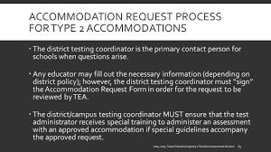 accommodations for students with disabilities tea student