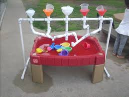 diy sand and water table pvc 62 water play table childrens kids sand and water