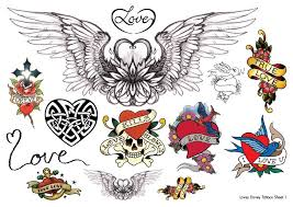 temporary tattoos hearts and wings temporary tattoos