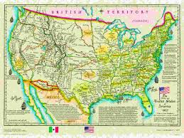 The Louisiana Purchase Map by Us Historical Series