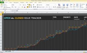 Project Tracker Template In Excel Project Issue Tracker Template For Excel