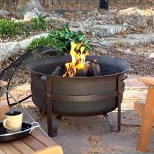 Metal Firepits Pit Unique Cauldron Pits Design Outdoor Simple