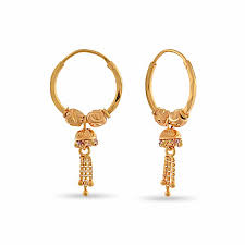 gold earing 22k gold earring by whp jewellers in 22kt purity velvetcase