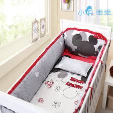 Minnie Mouse Infant Bedding Set Wholesale Mickey Mouse Crib Bedding Bumpers Size 130 70 140 70