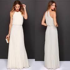 summer sleeveless maxi chiffon dress long casual dresses pure