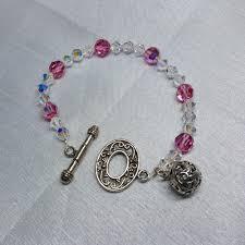 all swarovski crystal necklace images Bracelet all swarovski crystals 8mm pink and 6mm clear crystals jpg