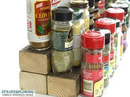 Wood To Make Cabinets Use Three Small Pieces Of Wood To Make Your Spices Easy To See In