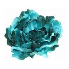 teal flowers cold color flower polyvore