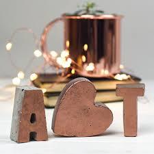 copper letters initials copper home decor copper letters