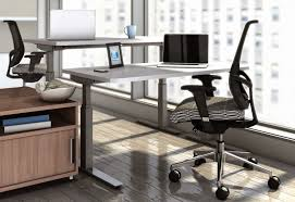 Computer Desk Height by Sit Stand Workstation Height Adjustable Standing Desk
