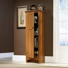 Small Storage Cabinet For Kitchen Amazon Com Sauder Summer Home Pantry Carolina Oak Finish