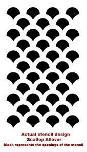 scallop stencil stencils pinterest stenciling cricut and