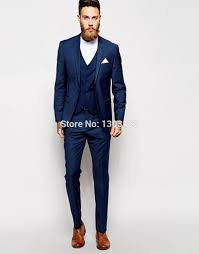 costume homme pour mariage ob9533380 bleu marine hommes costume sur mesure hommes costume de