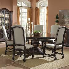 Decorating Dining Room Ideas Dark Wooden Dining Table For Four Users On The Cream Carpet For