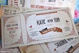 ticket wedding invitations vintage ticket wedding invitations wedfest