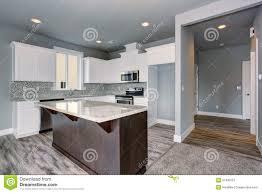 plancher cuisine bois cuisine unique avec le plancher en bois dur gris image stock image