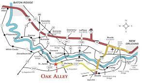 louisiana highway map map directions oak alley plantation