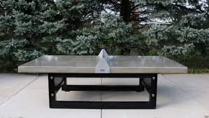 Concrete Table And Benches Outdoor Concrete Ping Pong Tennis Table With Steel Base Doty
