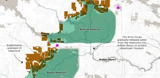 Downtown Houston Map Houston U0027s Big Dams Won U0027t Fail But Many Neighborhoods Will Have To