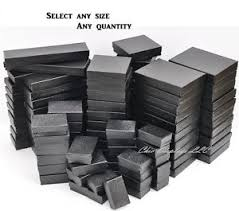 jewelry box 50 lot of 20 50 100 pcs black jewelry boxes cotton filled boxes