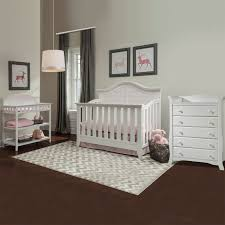 White Convertible Crib Sets by Thomasville 3 Piece Nursery Set Southern Dunes Lifestyle Crib