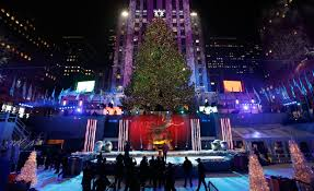 photos rockefeller center christmas tree lights up kmit 105 9 fm