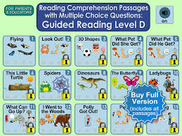 reading comprehension passages with multiple choice questions