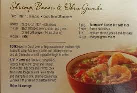 lot of 6 gumbo soup shrimp bacon gumbo recipe just a pinch recipes
