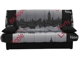 canapé lit clic clac conforama banquette clic clac en tissu motif york vente de