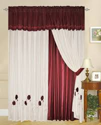 Red Curtains In Bedroom - different curtain design patterns home designing