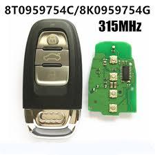 lexus key fob frequency audi q5 smart key fob 8k0959754g 8t0959754c 315mhz 3 buttons