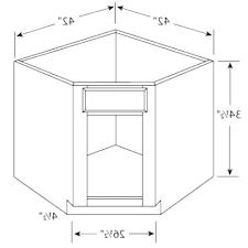 Kitchen Sink Base Cabinet Dimensions Base Cabinet Corner Dimensions Dimensions Thomasville Base Corner