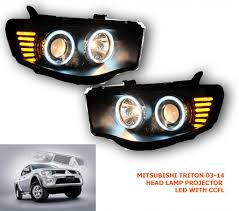 led mitsubishi l200 triton pickup strada head lamp light projector