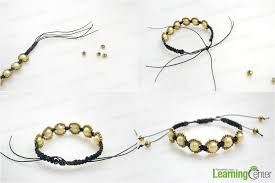 make bracelet with beads images Bracelet making tutorial how to make hemp bracelets with beads jpg