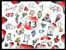 friday the 13th tattoos u2013 friday the 13th flash sheet for web