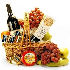 fruit and cheese gift baskets christmas wine fruit cheese basket s floral designz st