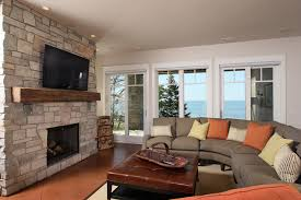 recessed lighting over fireplace decorating fireplace mantel family room traditional with tv above