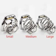 small metal rings images Male chastity cage stainless steel chastity belt penis lock with jpg