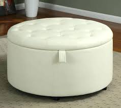 storage ottoman on wheels storage ottoman on wheels elegant bedroom with round fabric white