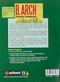 buy a complete self study guide for b arch 2015 old edition book