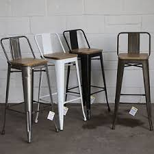 cafe bar stools set of 4 metal industrial bar stool breakfast kitchen bistro cafe