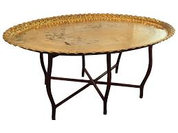 Tray Coffee Table by Large Oval Mcm Brass Tray Coffee Table Chairish