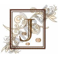 fancy square letter j embroidery design annthegran