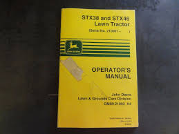 john deere stx38 and stx46 lawn tractor operator u0027s manual