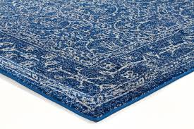 Navy Blue Runner Rug Elysian Navy Blue Pattern With Borders Transitional Runner Rug